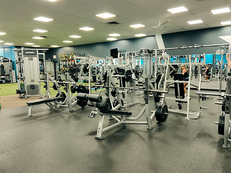 Indoor Cycling studio at Level Fitness Club premier full-service gym in Yorktown